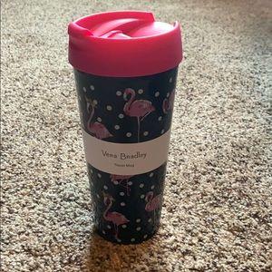 Vera Bradley flamingo travel mug